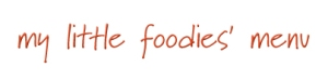 My Little Foodies' Menu Header